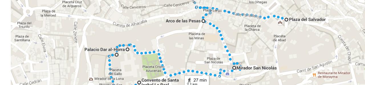 Ruta a pie por el Albaicin Alto (Granada)