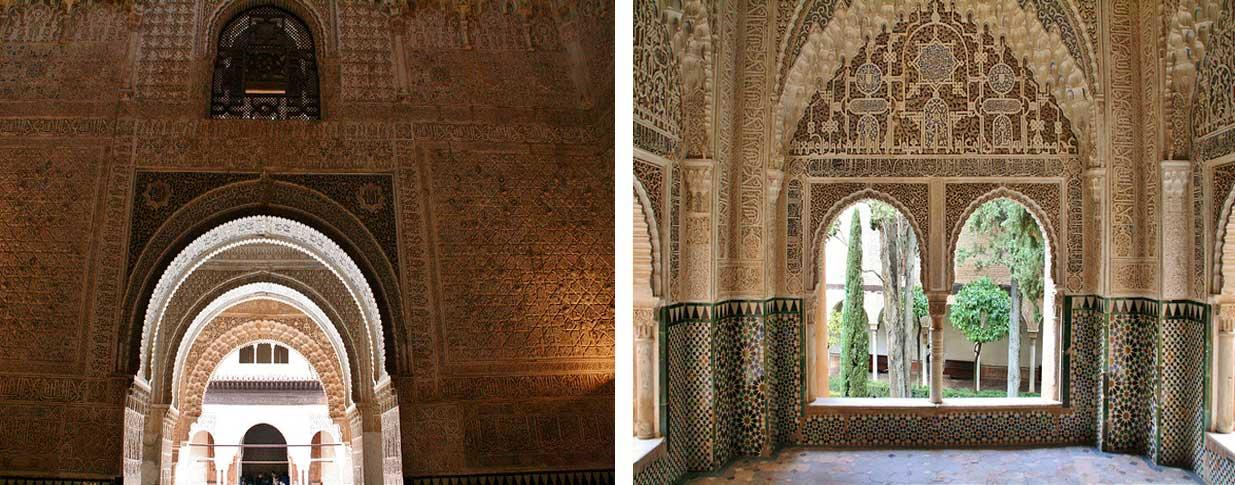Alhambra de Granada: Sala Dos Hermanas y mirador de Daraxa