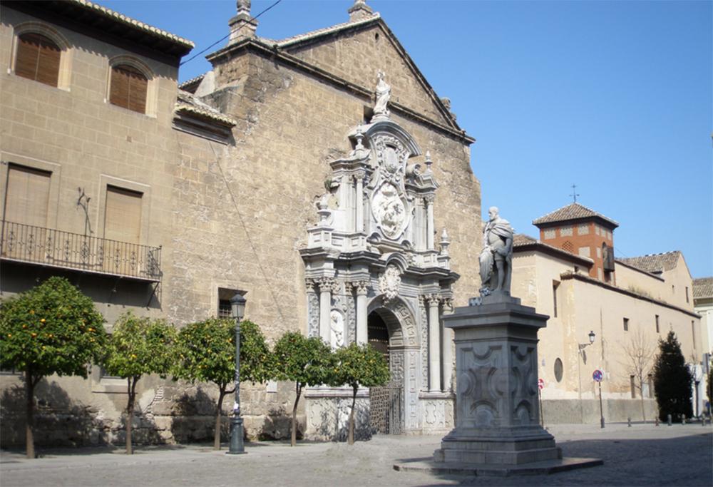 Puerta Elvira: iglesia-santos-justos y Pastor