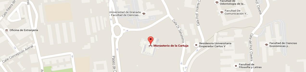 Mapa situacion monasterio de la Cartuja de Granada