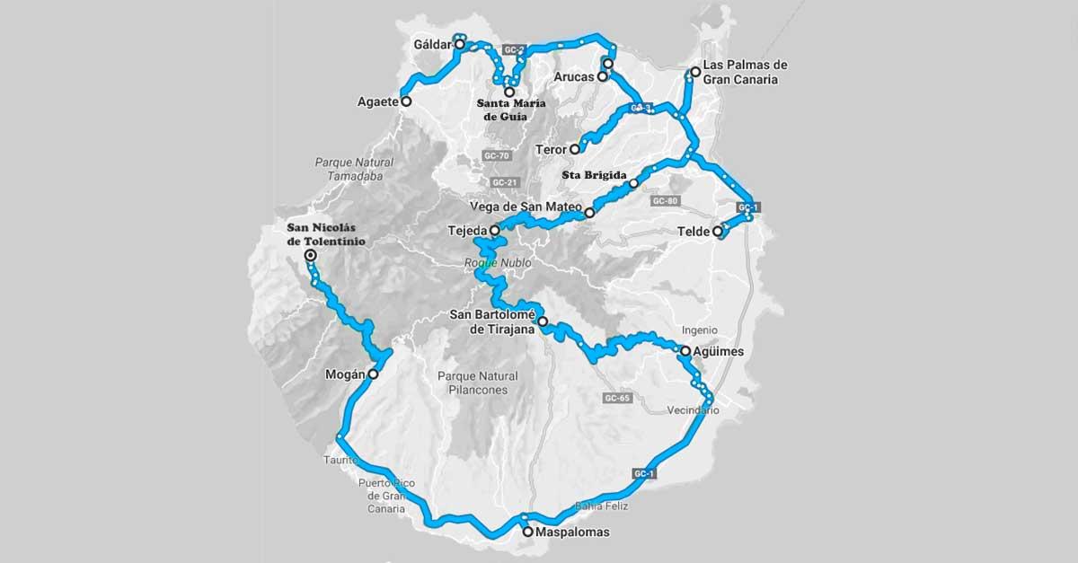 Ruta en coche por Gran Canarias