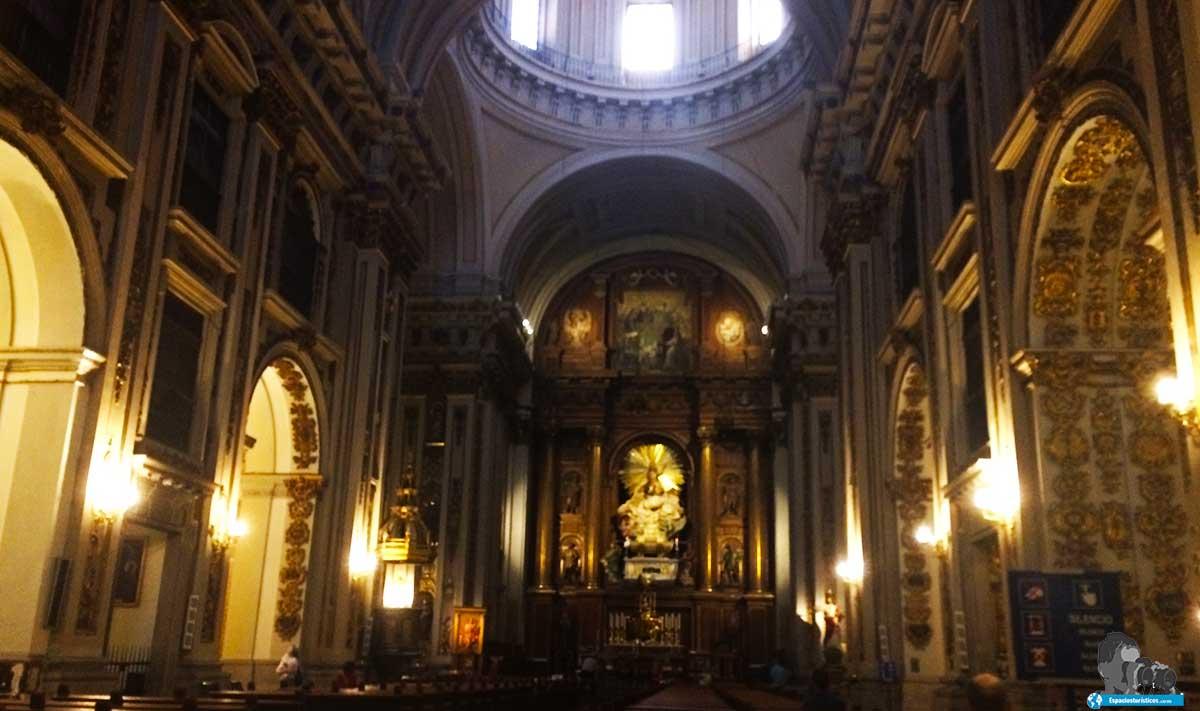 Interior de la Real Colegiata de San Isidro.