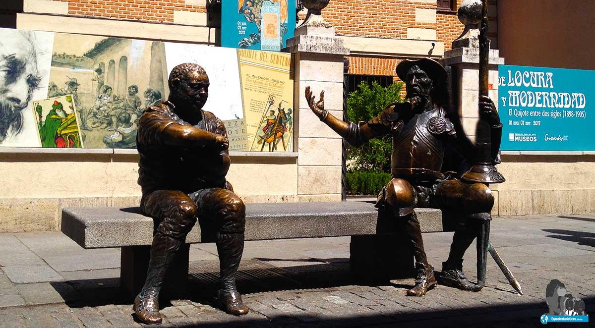 Ruta: Museo casa natal de Cervantes. / Don Quijote y Sancho Panza