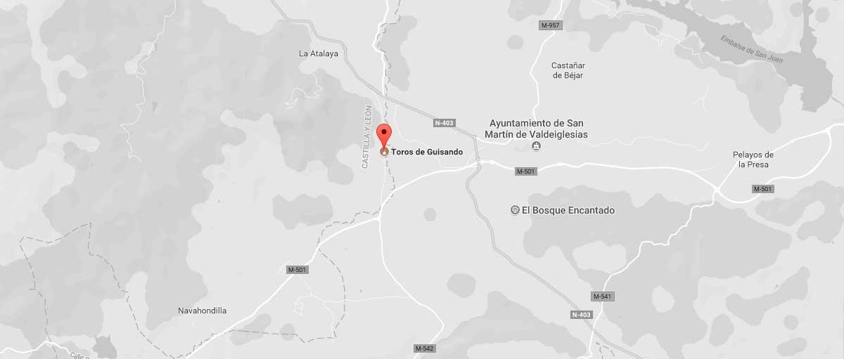 Mapa de situación de los Toros de Guisando