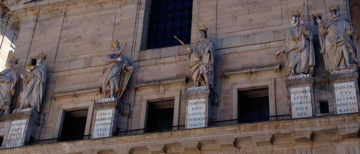 reyes de Judea en el patio de Reyes del Real Monasterio de San Lorenzo del Escorial
