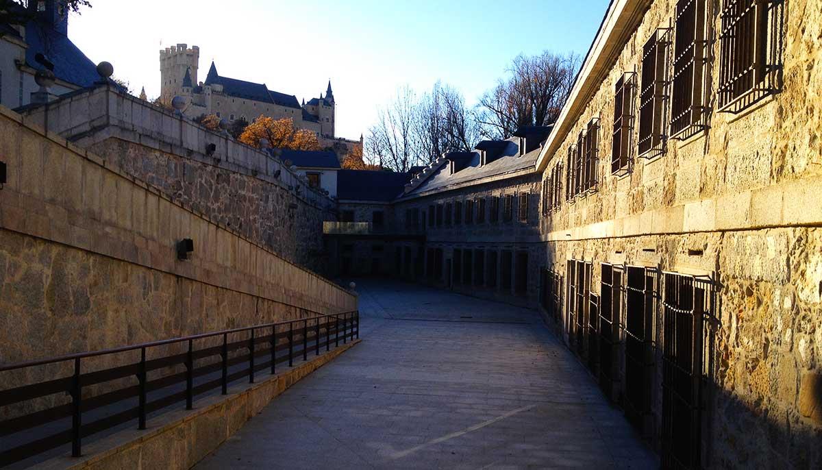 Patio del Real Museo Casa de Moneda de Segovia.