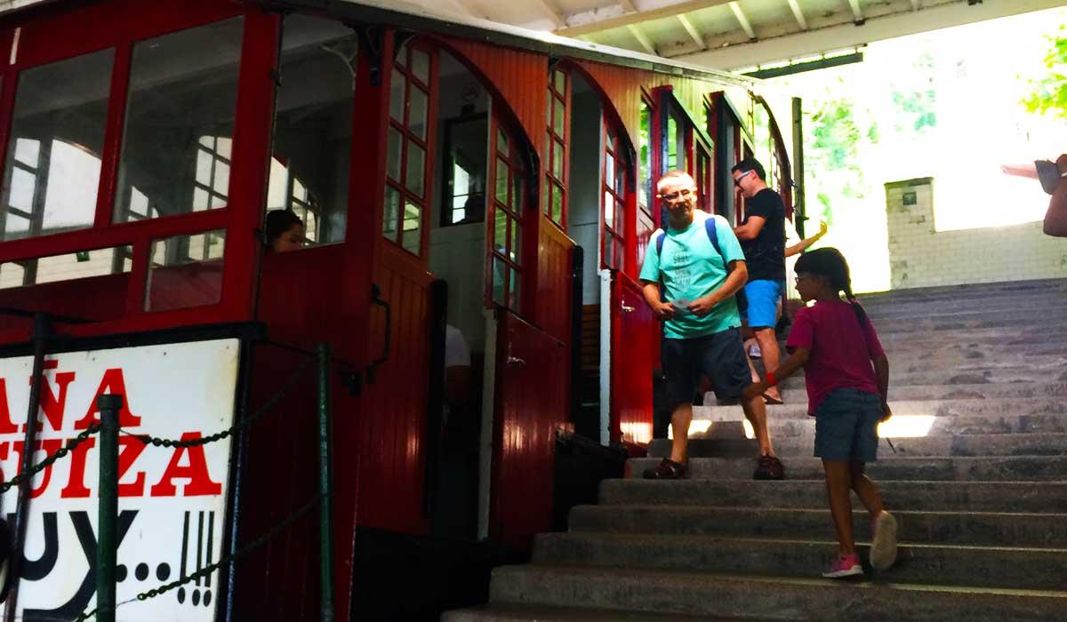 Cabina de Funicular de subida a Monte Igueldo.