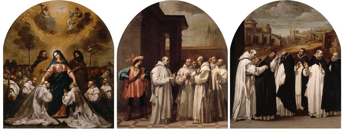 """""""Algunos de los cuadros que veras en la exposición de Carducho en el Claustro de el Monasterio del Paular·"""
