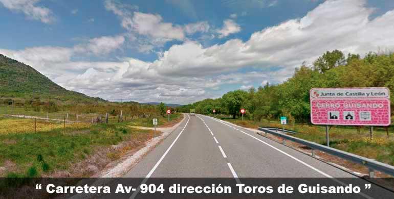 carretera dirección Toros de Guisando