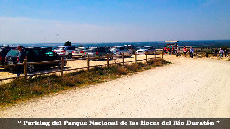 Parking del Parque Nacional de las Hoces del Río Duratón