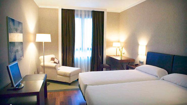dormitorio del Hotel Balneario de Olmedo