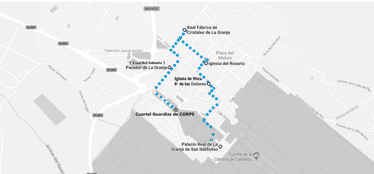 Mapa de la granja de san ildefonso.