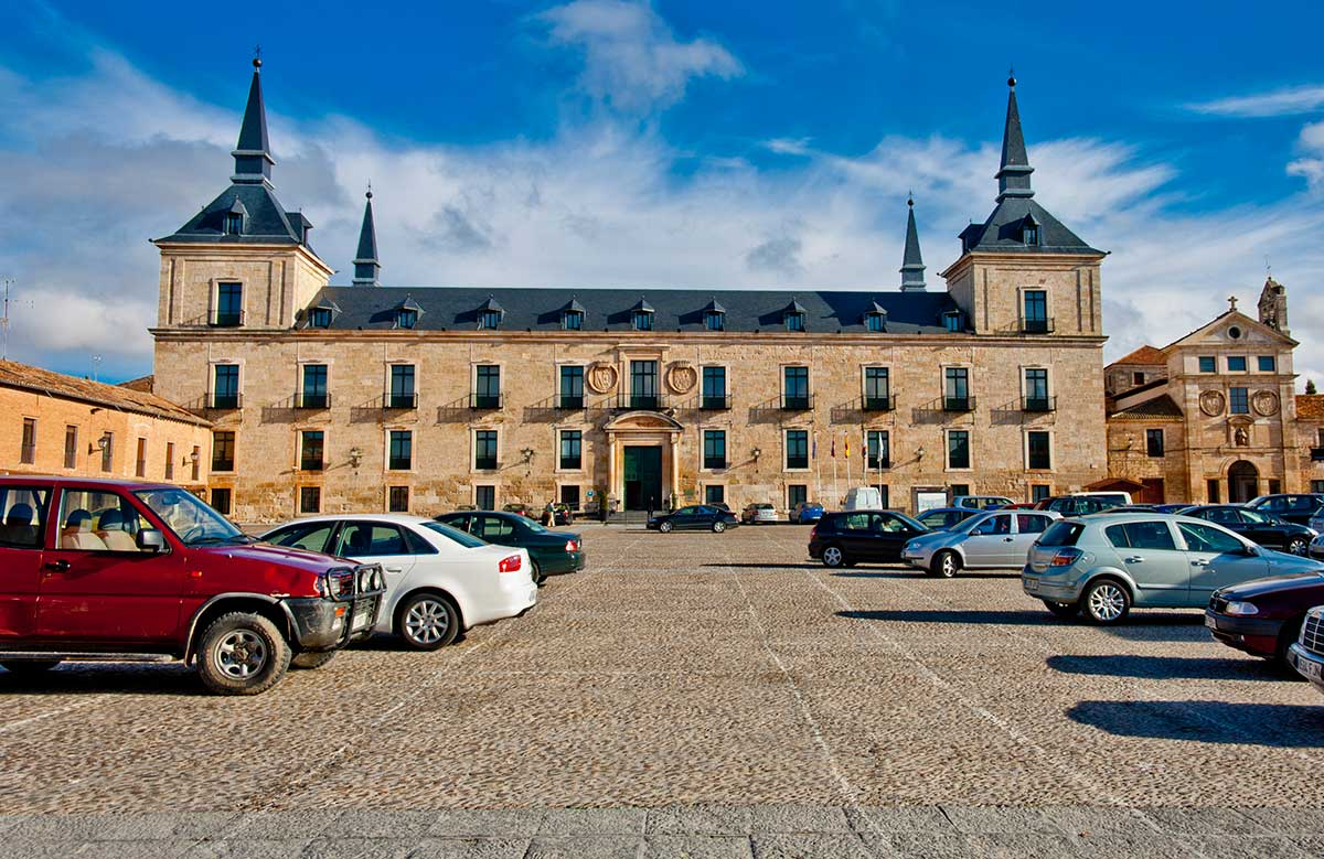 Palacio Ducal en la Plaza Mayor de Lerma.