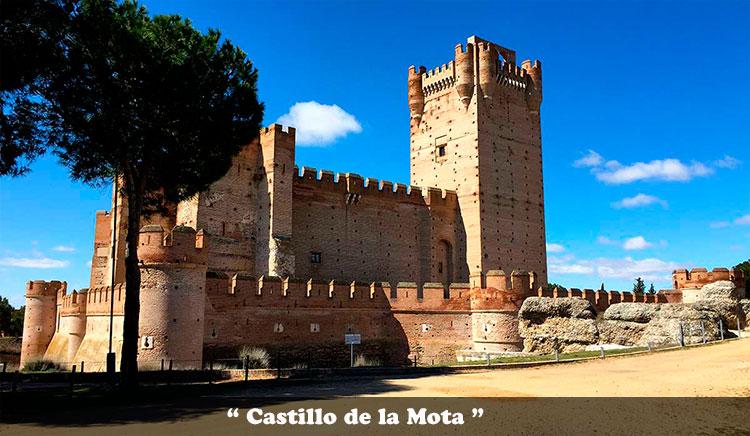 Castillo de la Mota en Medina del Campo en la provincia de Valladolid