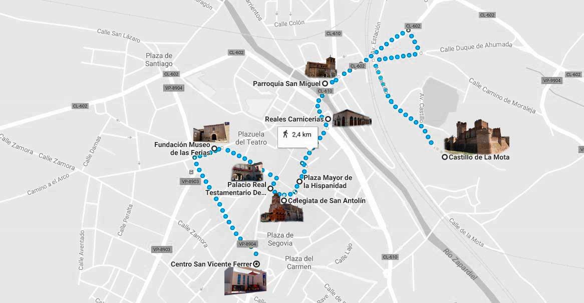 Medina Del Campo Mapa.9 Lugares Turisticos Que Ver En Medina Del Campo Provincia
