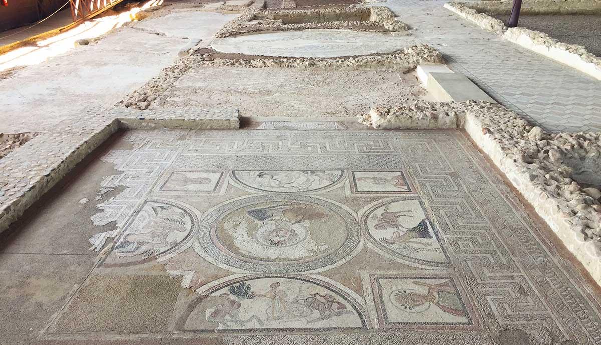 Dormitorio de Materno en la villa romana de Carranque