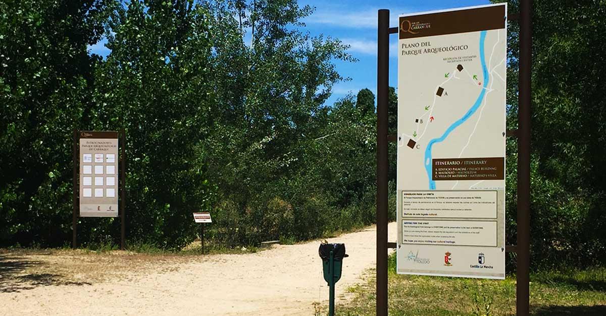 Camino de acceso al Parque Arqueológico de Carranque