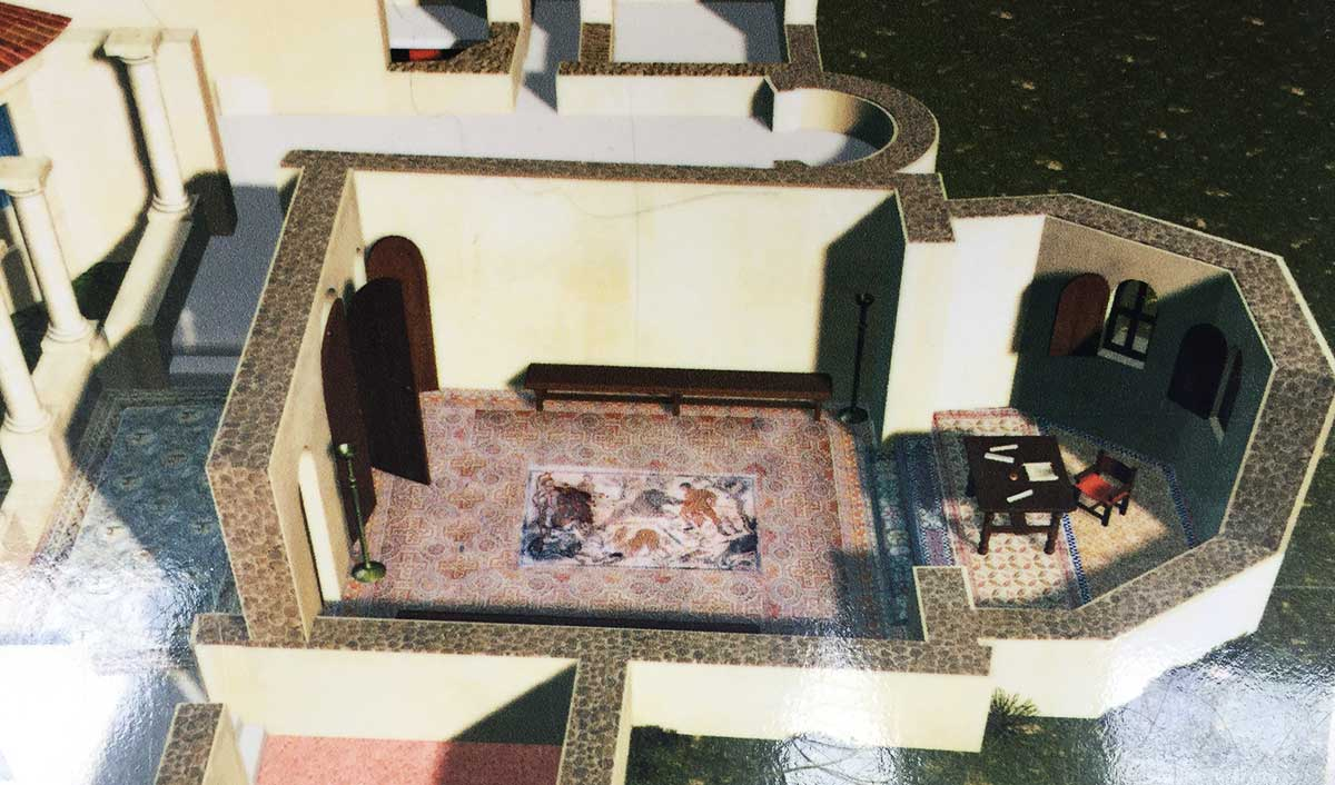 Recreación salón de la Casa de Materno