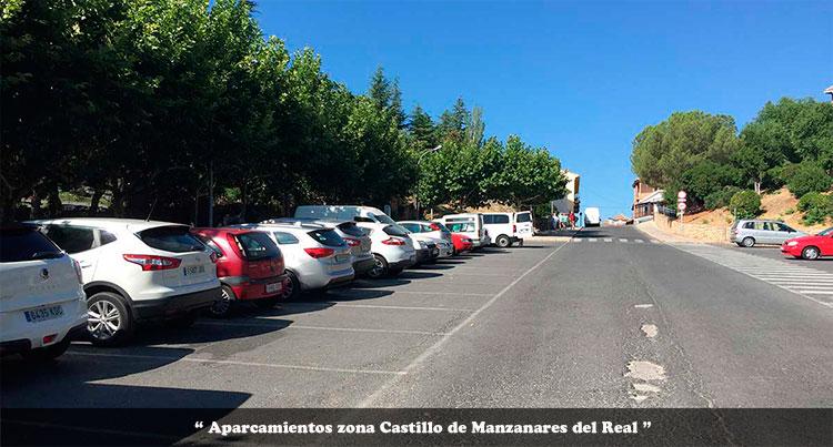Aparcamiento de acceso al Castillo de Manzanares el Real