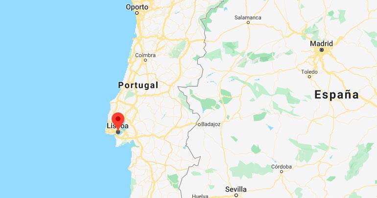 plano se situación de Lisboa