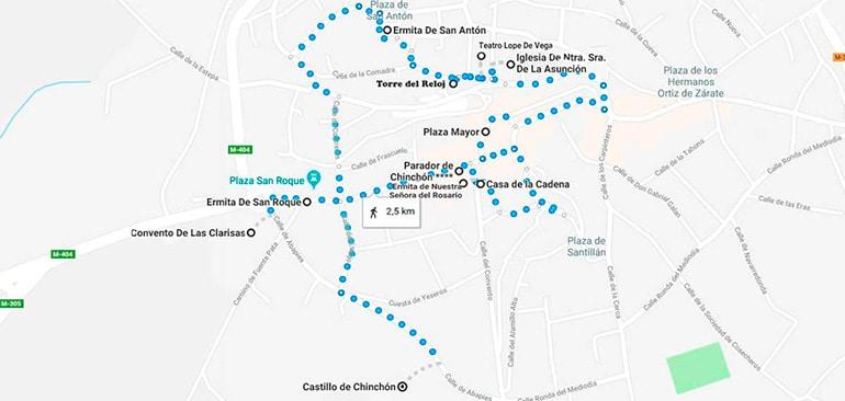 recorrido a pie para visitar Chinchón