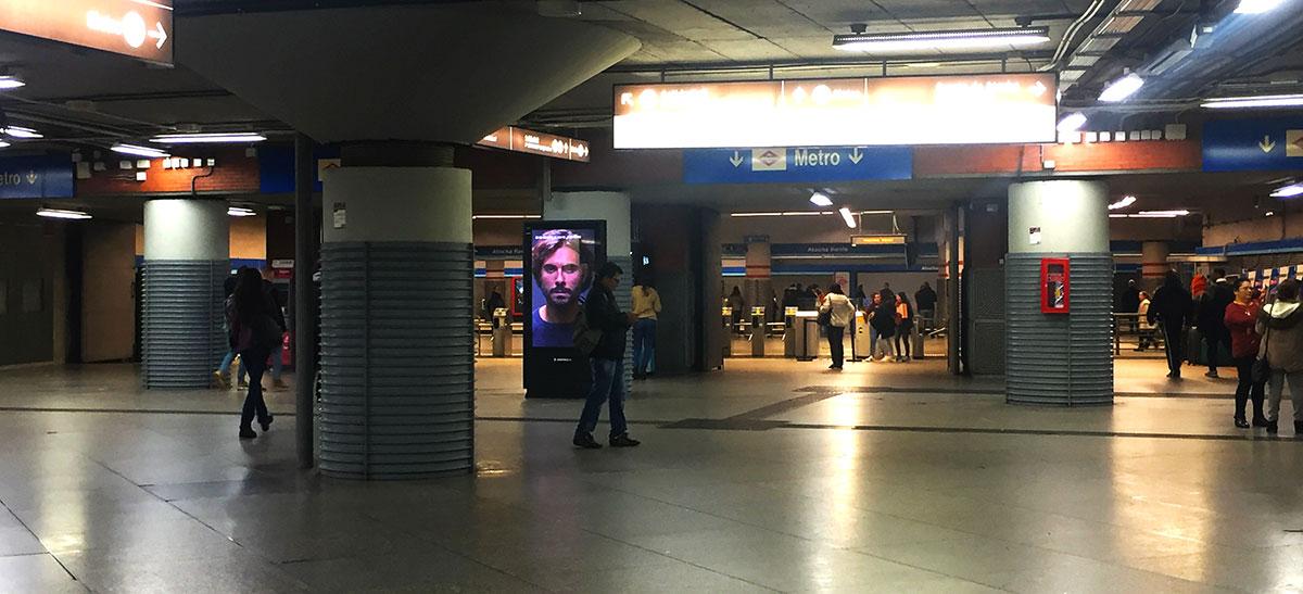 Intercambiador metro en estación de Atocha