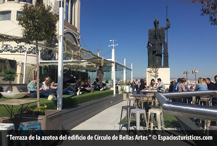 Terraza de la azotea del edificio de Círculo de Bellas Artes