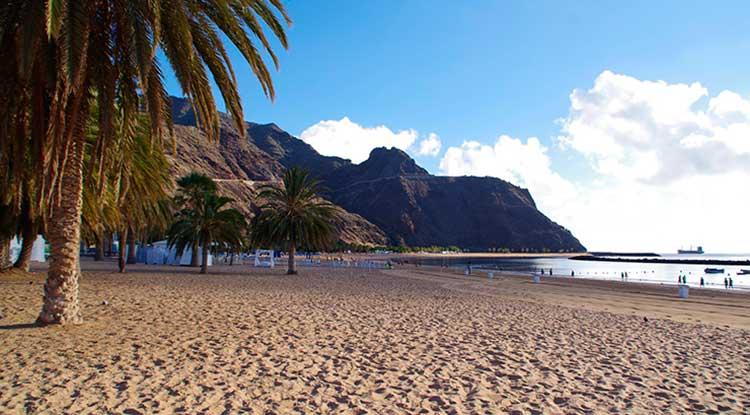 Playa delas Teresitas de Tenerife