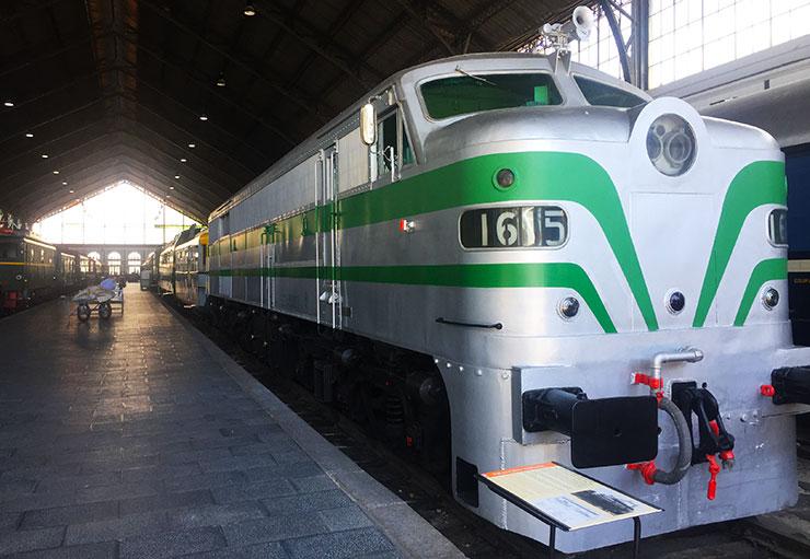 locomotora diésel del museo del Ferrocarril de Madrid