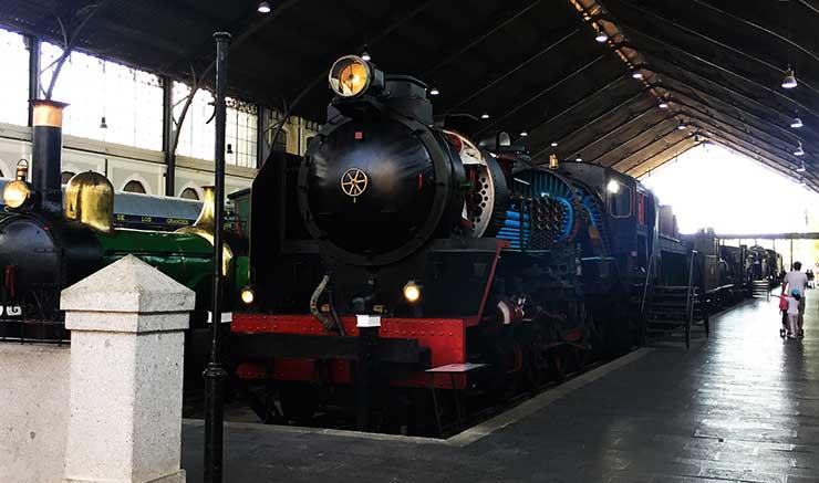Locomotora de vapor tipo Mikado del Museo del Ferrocarril de Madrid