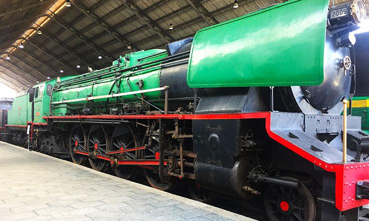 Locomotora de vapor Confederación del Museo del Ferrocarril de Madrid
