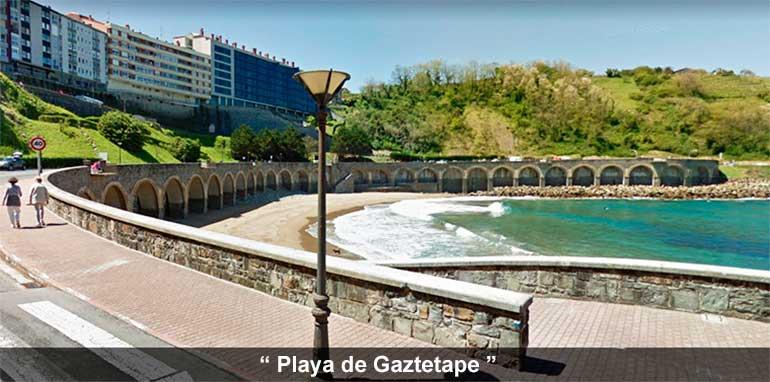 playa Gaztetape de guetaria