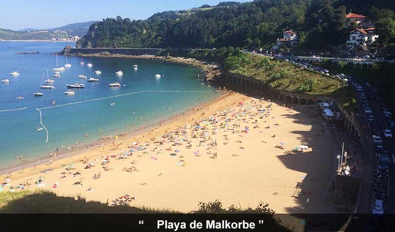 Playa Malkorbe de Guetaria
