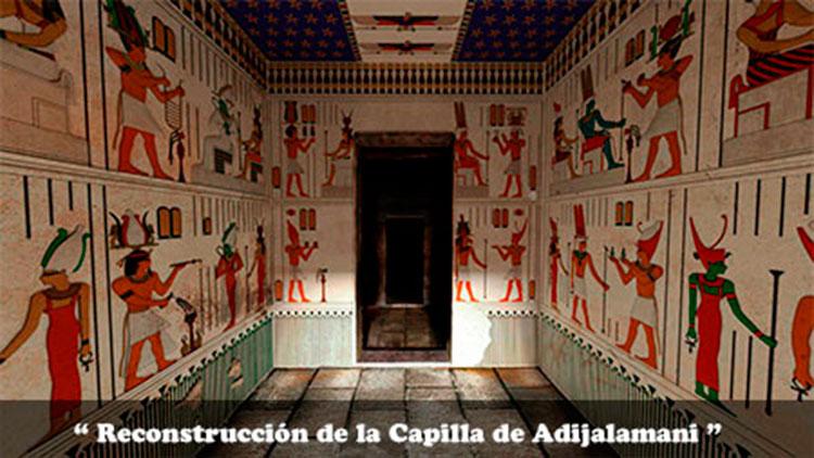 reconstruccion de la capilla de Adijalamina en el templo de Debod