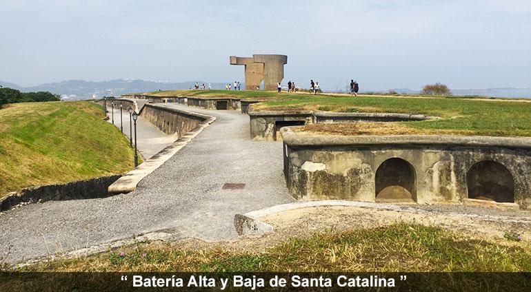 batería alta y baja de Santa CATALINA
