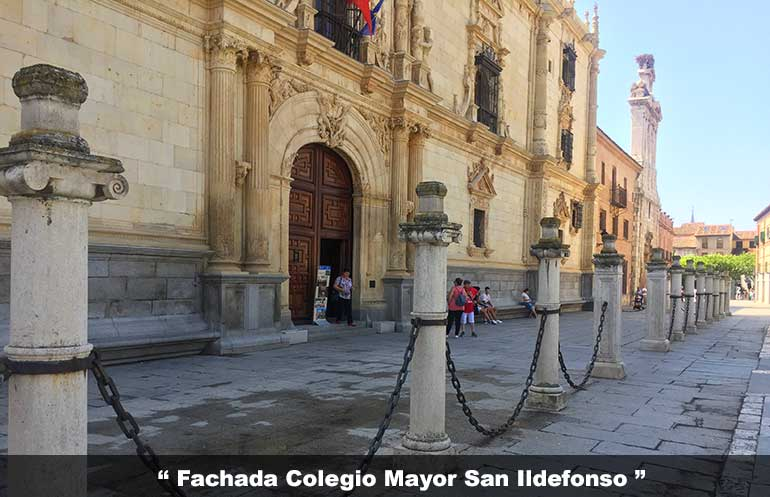 Visita al Colegio Mayor de San Ildefonso - Fachada del Colegio Mayor