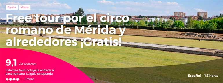 Free Tour por el circo romano de Mérida y alrededores Gratis