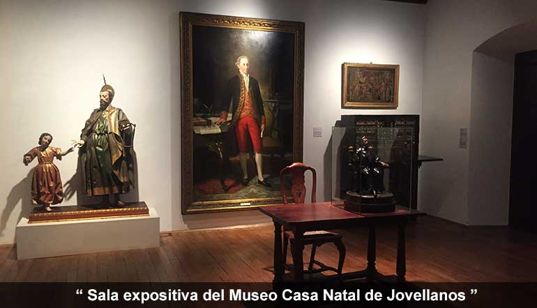 sala expositiva del Museo casa natal de Jovellanos