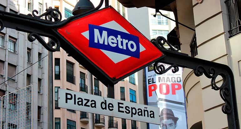 Mapa turístico de metro de Madrid