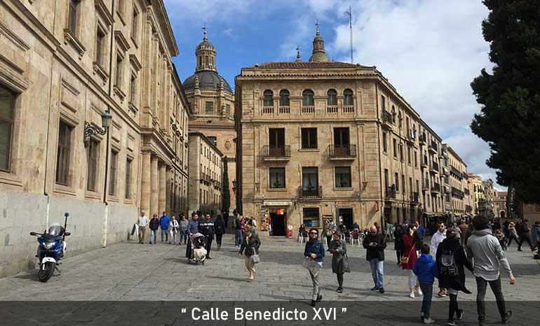 calle Denedicto XVI de Salamanca
