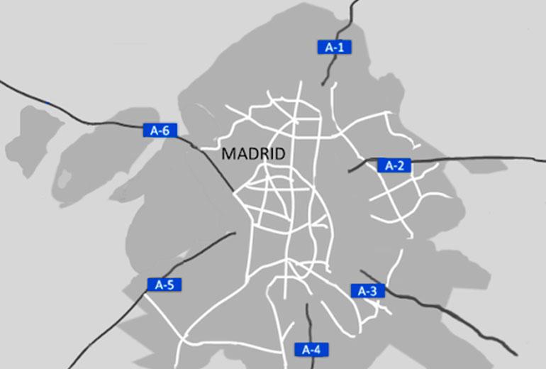 Accesos por carretera a Madrid