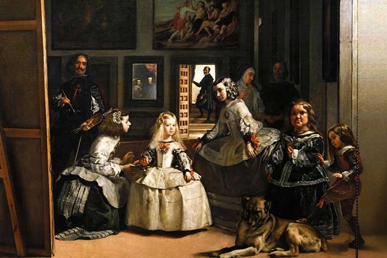 Cuadro de las Meninas alojado en el Museo del Prado.