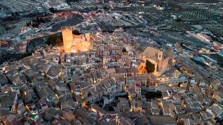 panorámica del pueblo de Moratalla en la región de Murcia