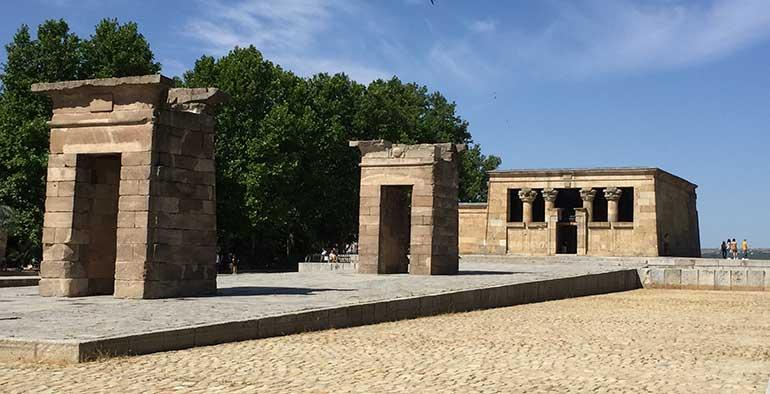 Templo egipcio de Debod en Madrid