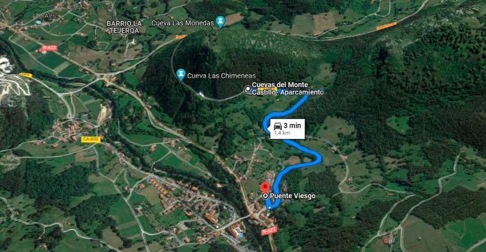 Ruta de Puente Viesgo hasta Monte Castillo