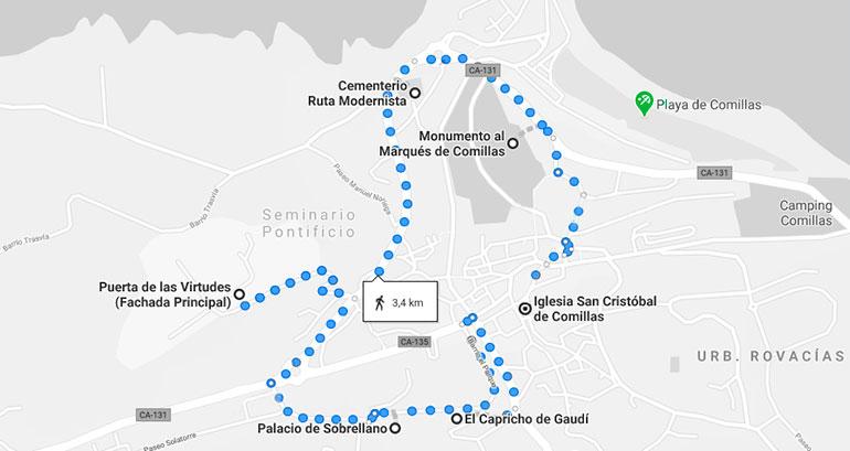 ruta de las tres colinas