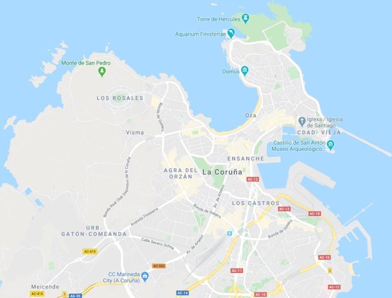 a-coruna-mapa-centro-ciudad