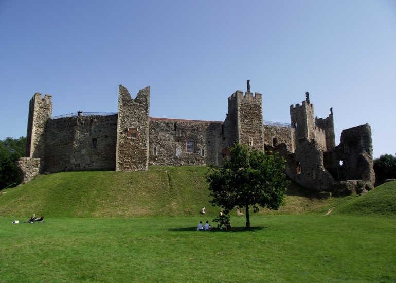 Castillo de Framlingham-Este de Inglaterra-Suffolk