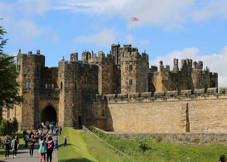 castillo de Ainwick-Nordeste de Inglaterra-Northumberland