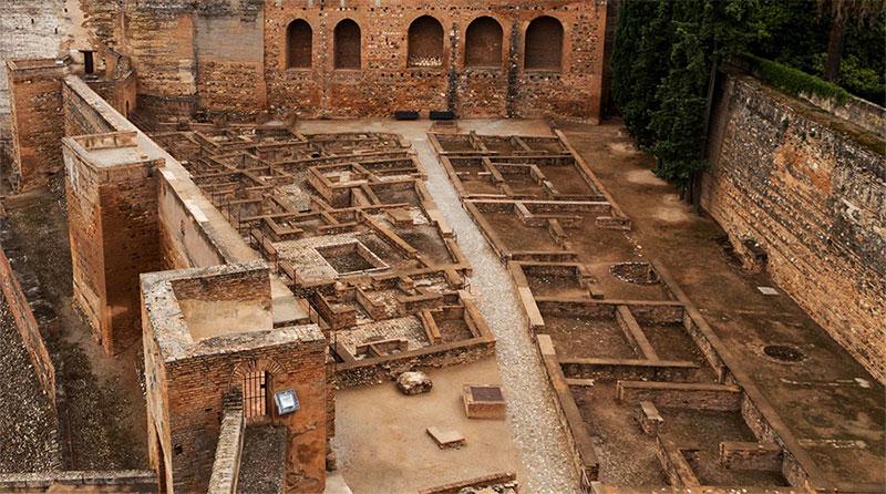 Vista de la Alcazaba desde la muralla